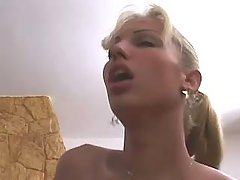 Beauty shemale fucks in wild nature